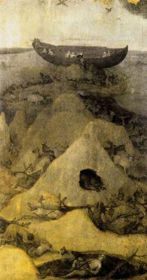 Иероним Босх. Ковчег Ноя на горе Арарат. 1500-1504 гг.