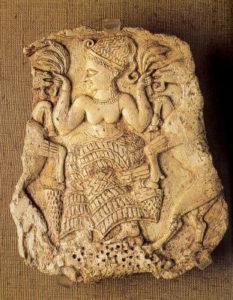 Рис. 4 Богиня плодородия, кормящая козлов. 14 в. до н.э.