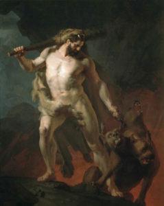 Геракл выводит Кербера из царства Аида
